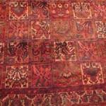 Damaged oriental rug