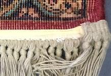 back of a karastan rug